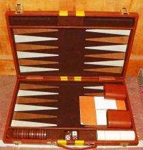 Leather Travel Backgammon Game