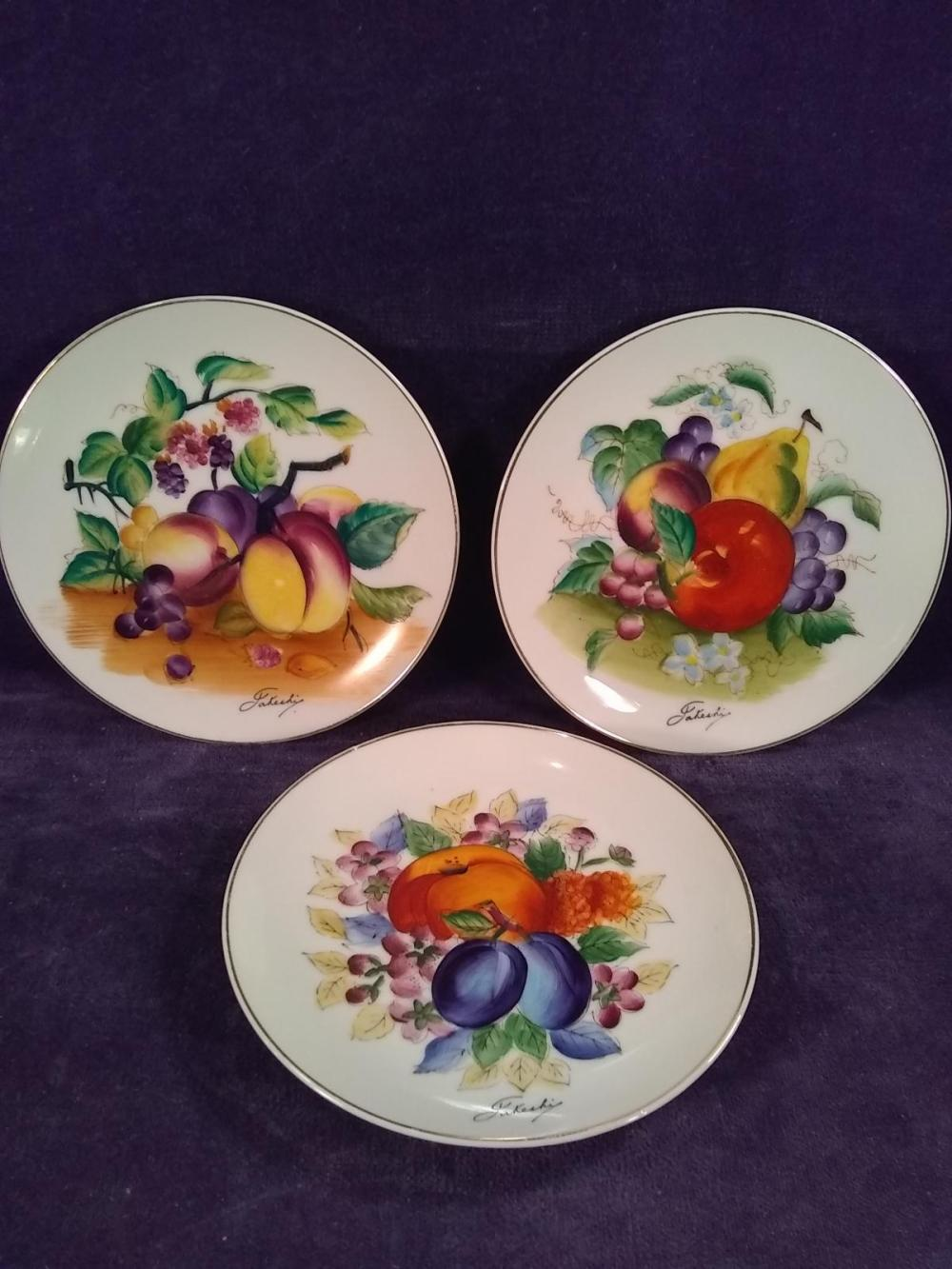 Collection 3 Hand painted Blair Ware Plates signed by Artist