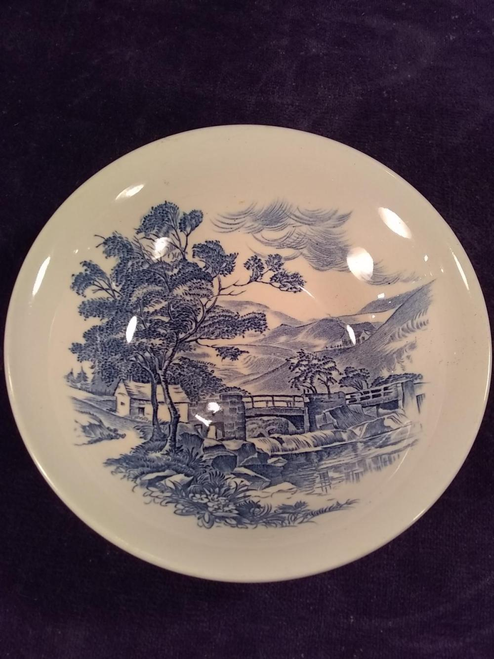 Countryside Blue and White Soup Bowl