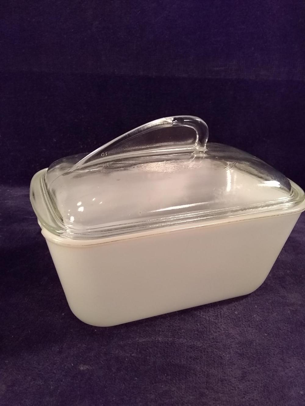 Antique Milkglass Glasbake Covered Storage Dish