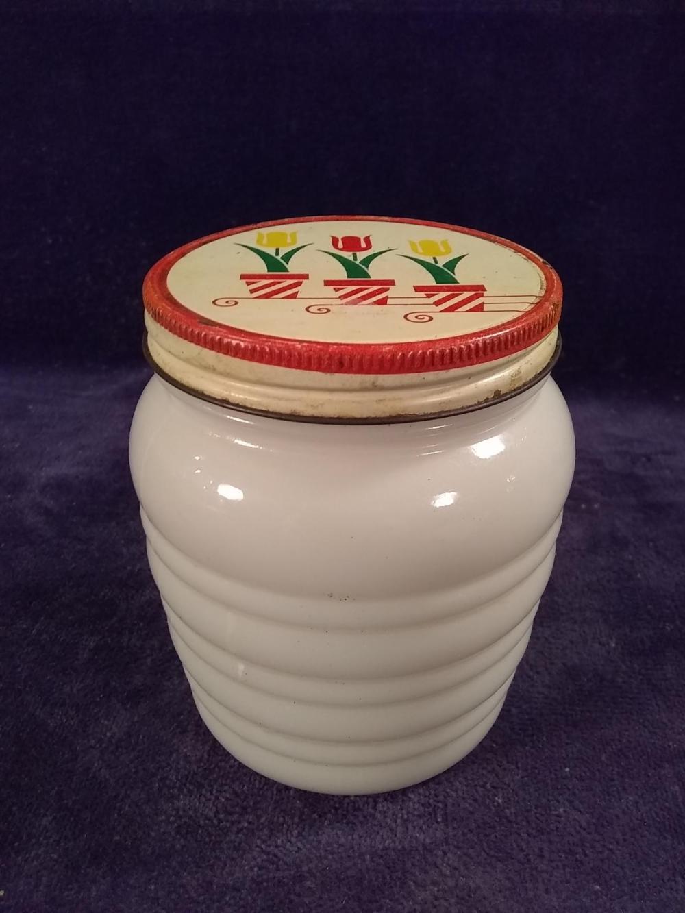 Vintage Milkglass Cold Cream Jar