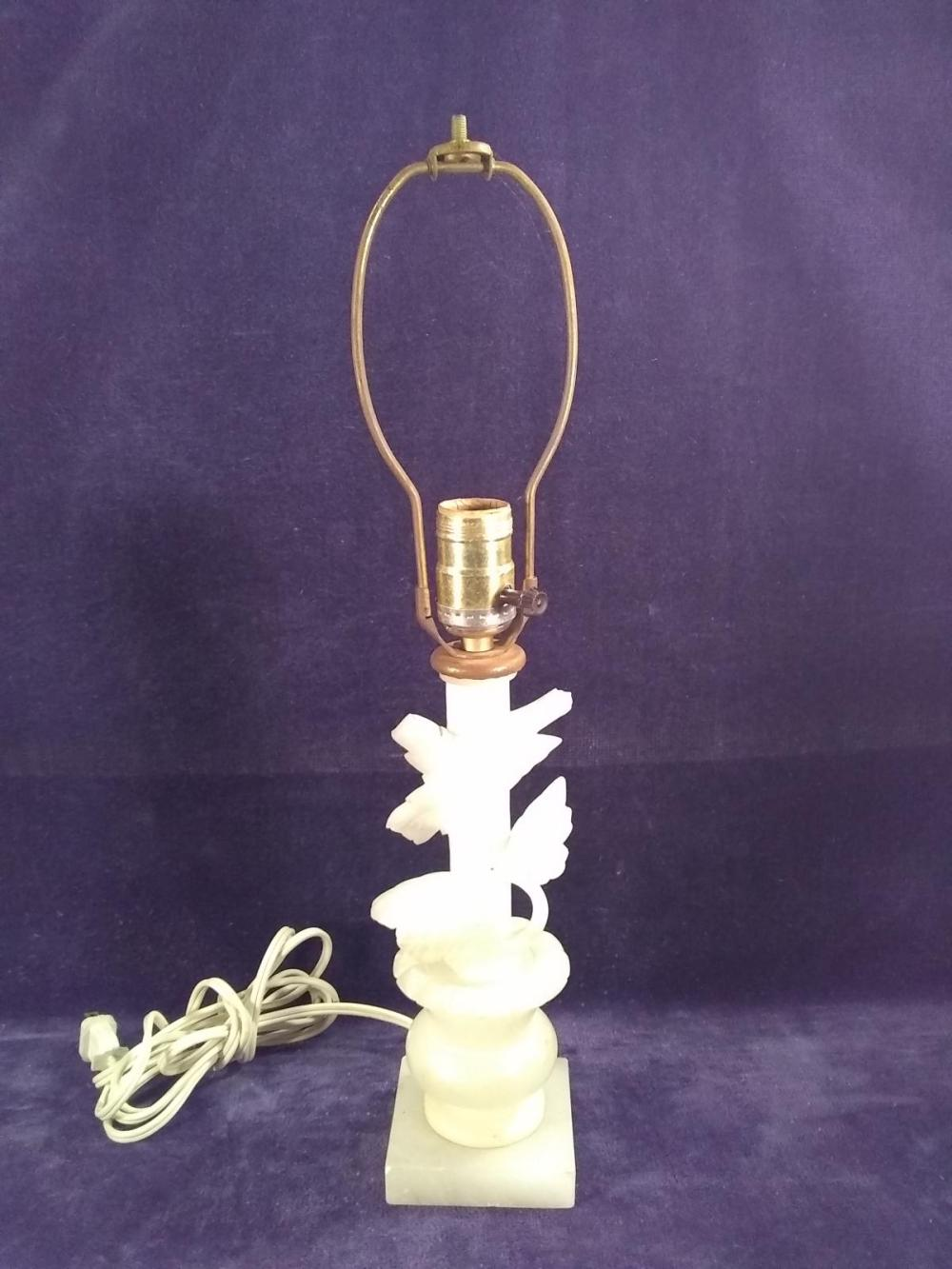 Hand Carved Marble Lamp