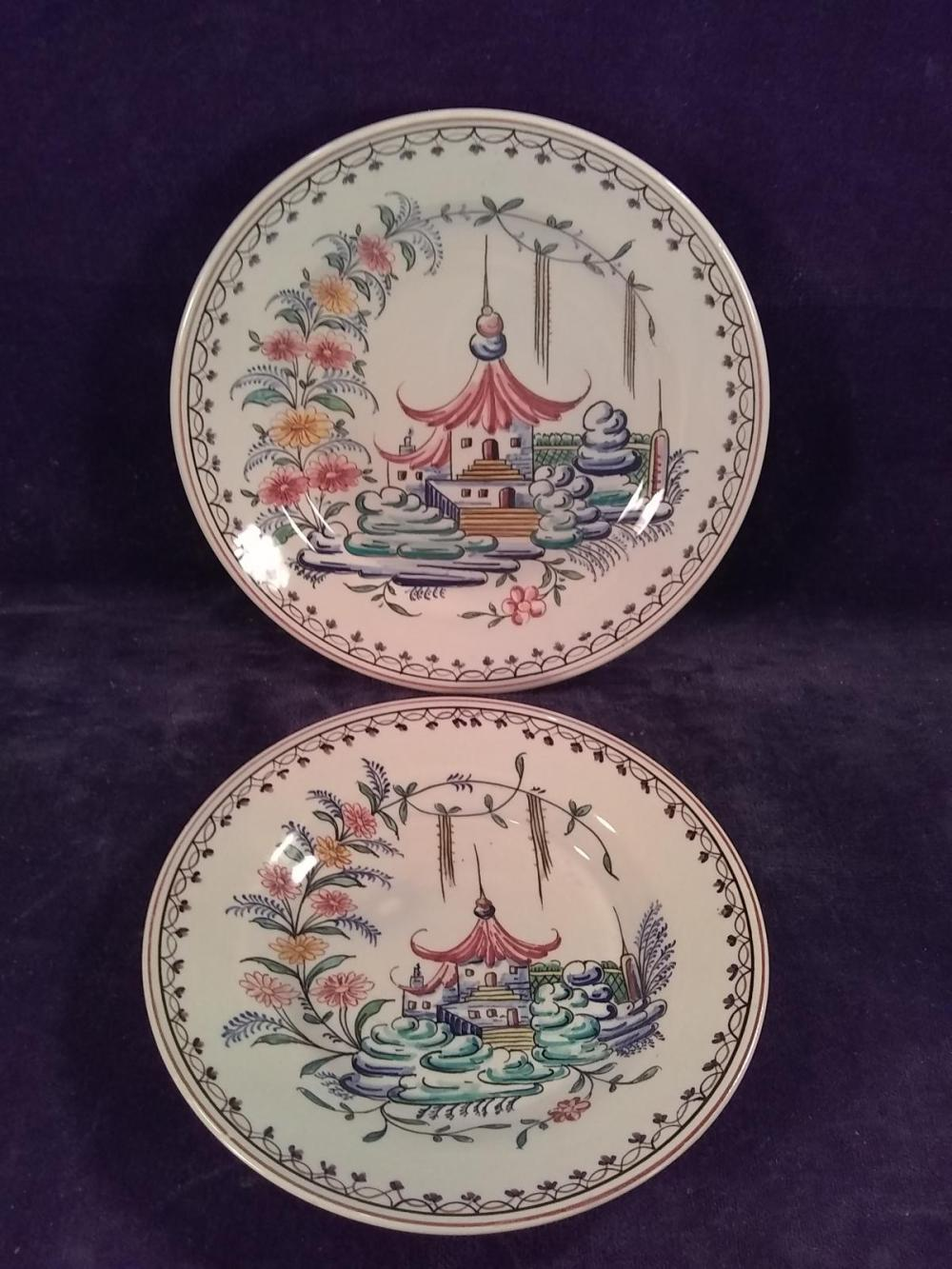 Collection 2 Hand painted Portugal Plates