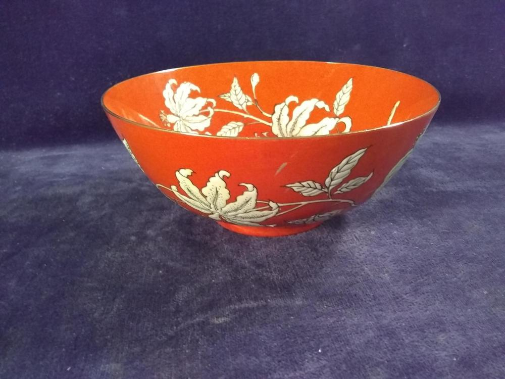 Porcelain Hong Kong Flowered Decorated Bowl