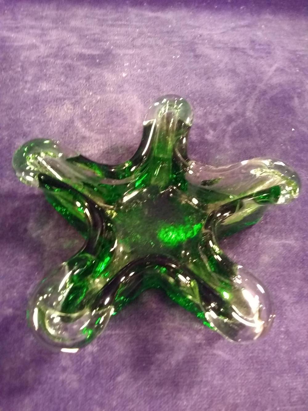 Hand Blown Art Glass Dish