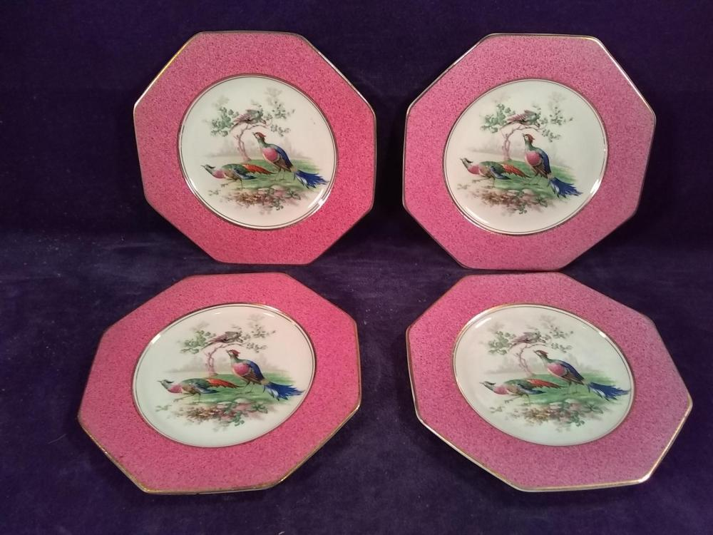 Collection 4 Imperial Porcelain Wedgewood England Peacock Plates
