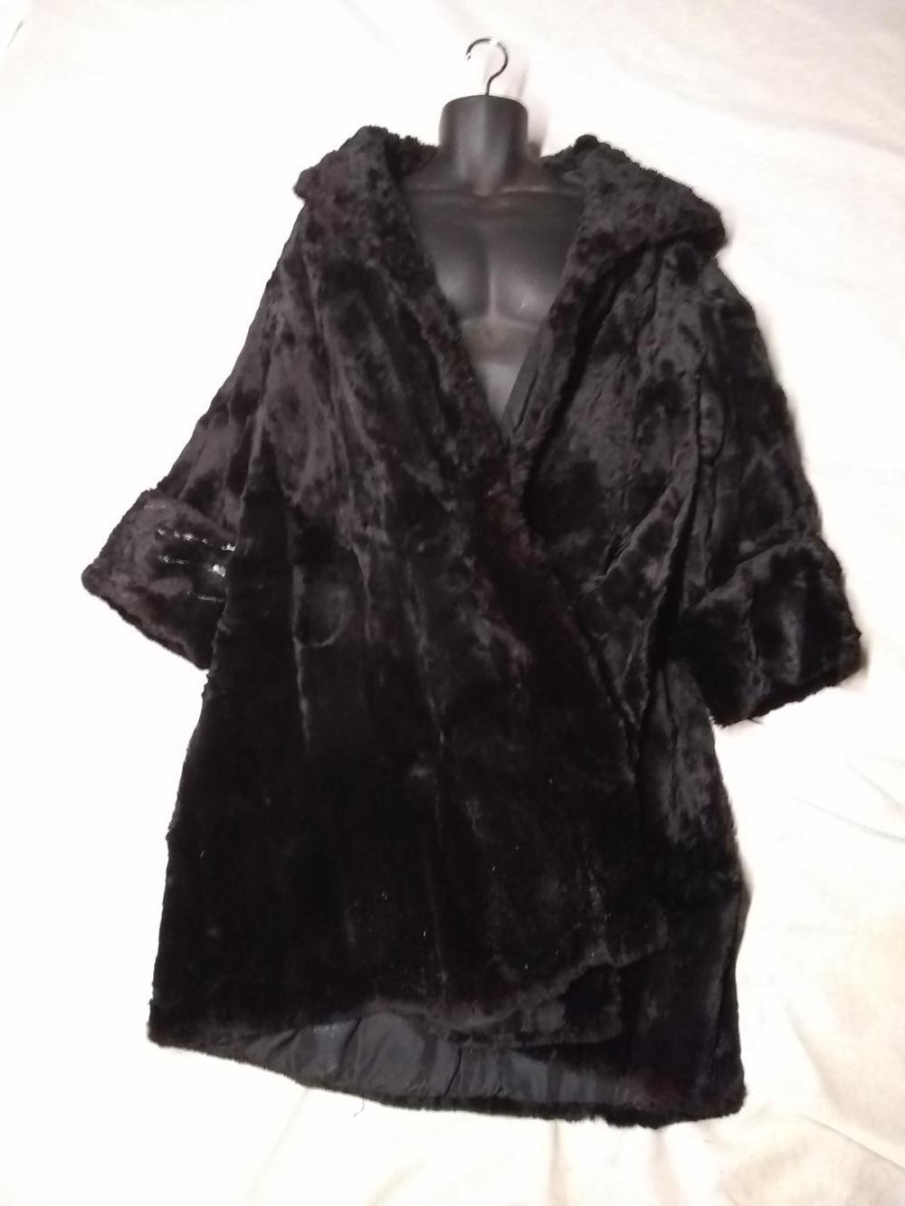 Vintage Full Length Mink Coat w/Hood Collar