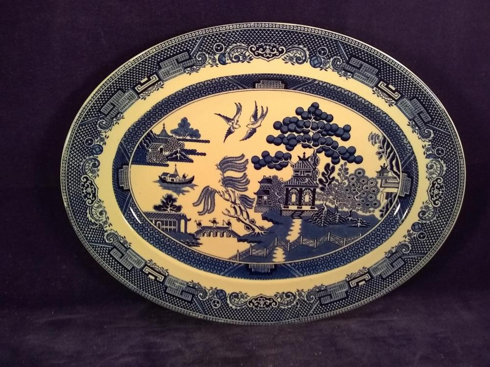 Vintage Blue Willow, Johnson Brothers Oval Platter