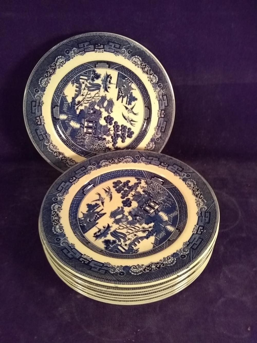 Collection 8 Vintage Blue Willow,Johnson Brothers Plates
