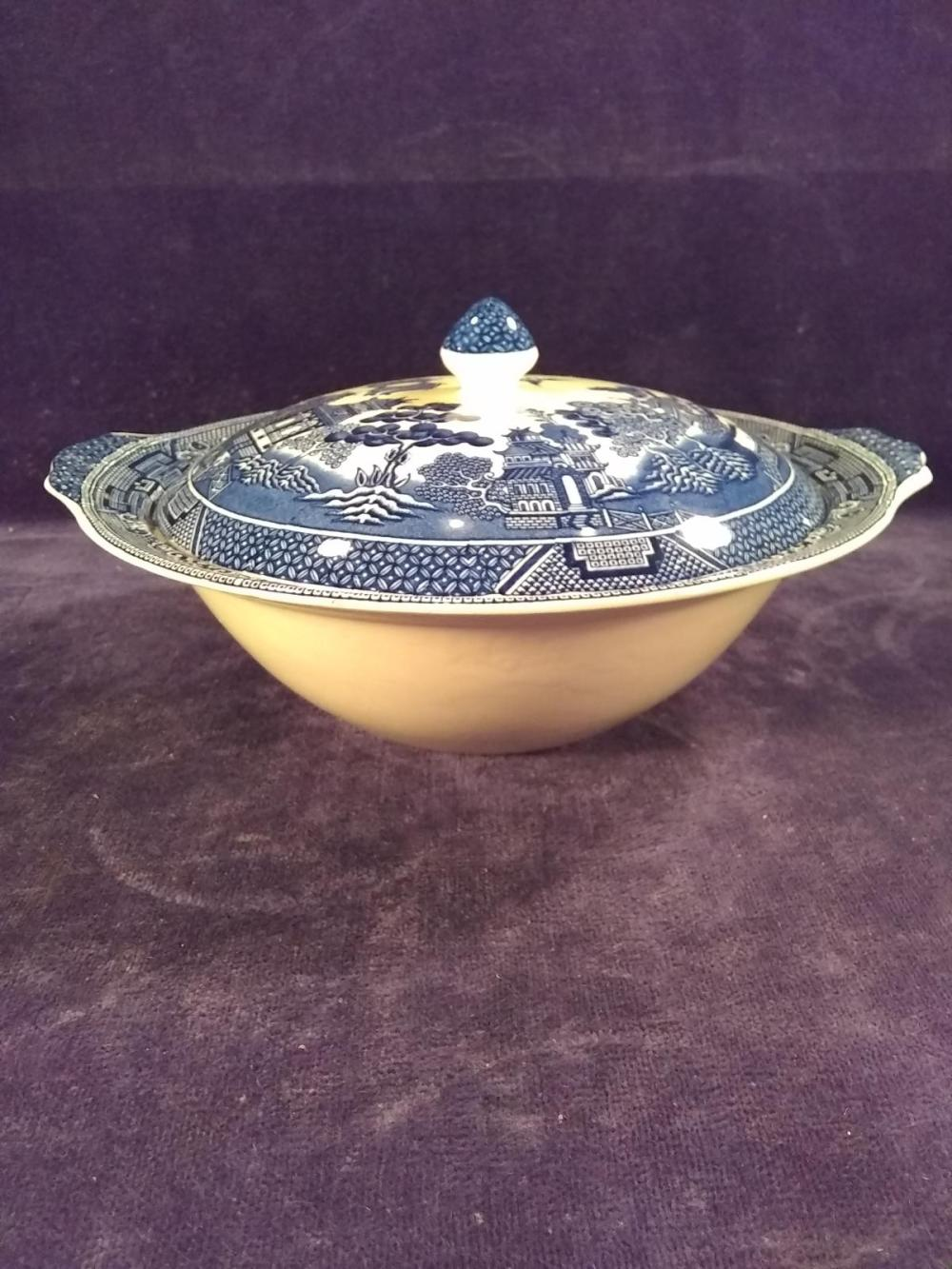 Vintage Blue Willow Covered Tureen