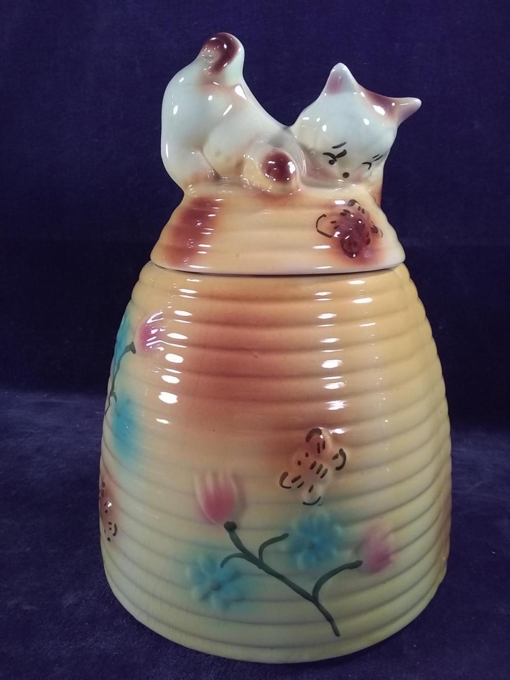 Antique Beehive Cookie Jar