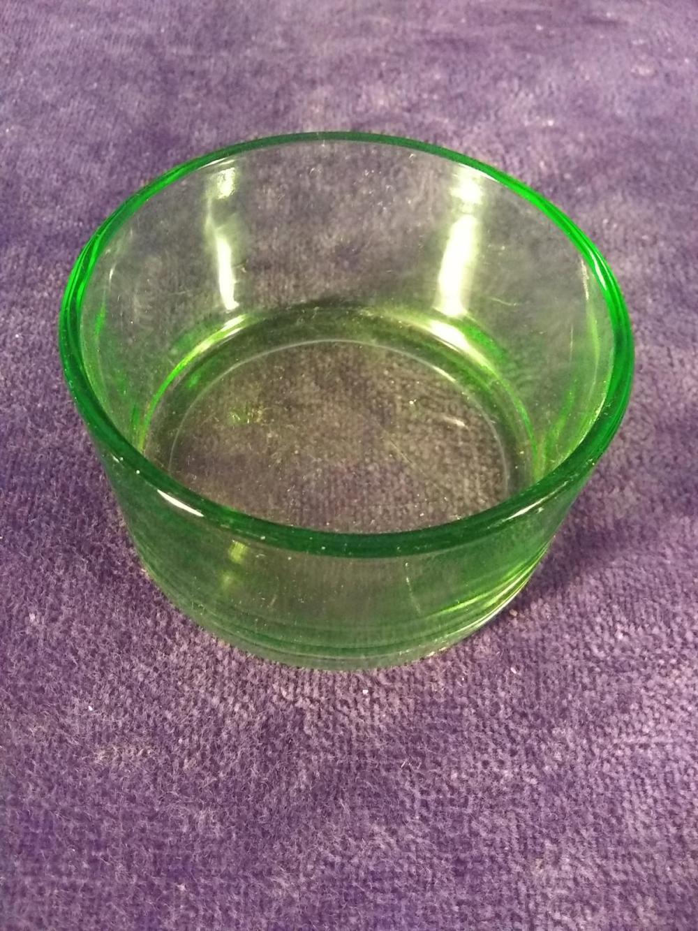 Green Depression Vasoline #1 IDL New York Bowl