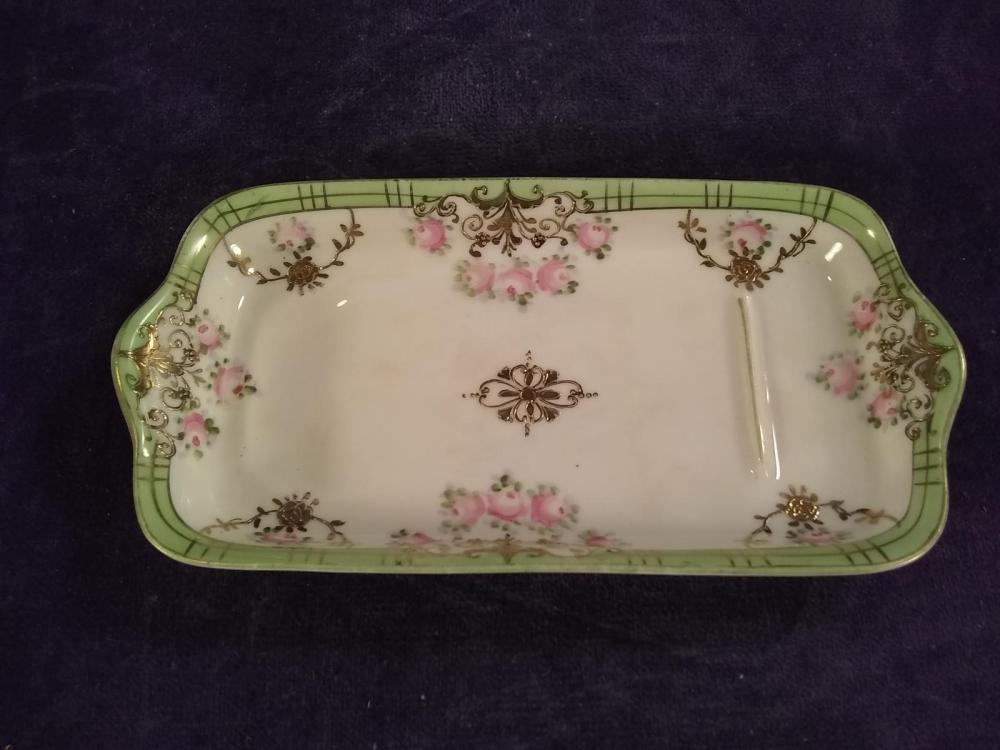 Hand painted Porcelain Dresser Dish