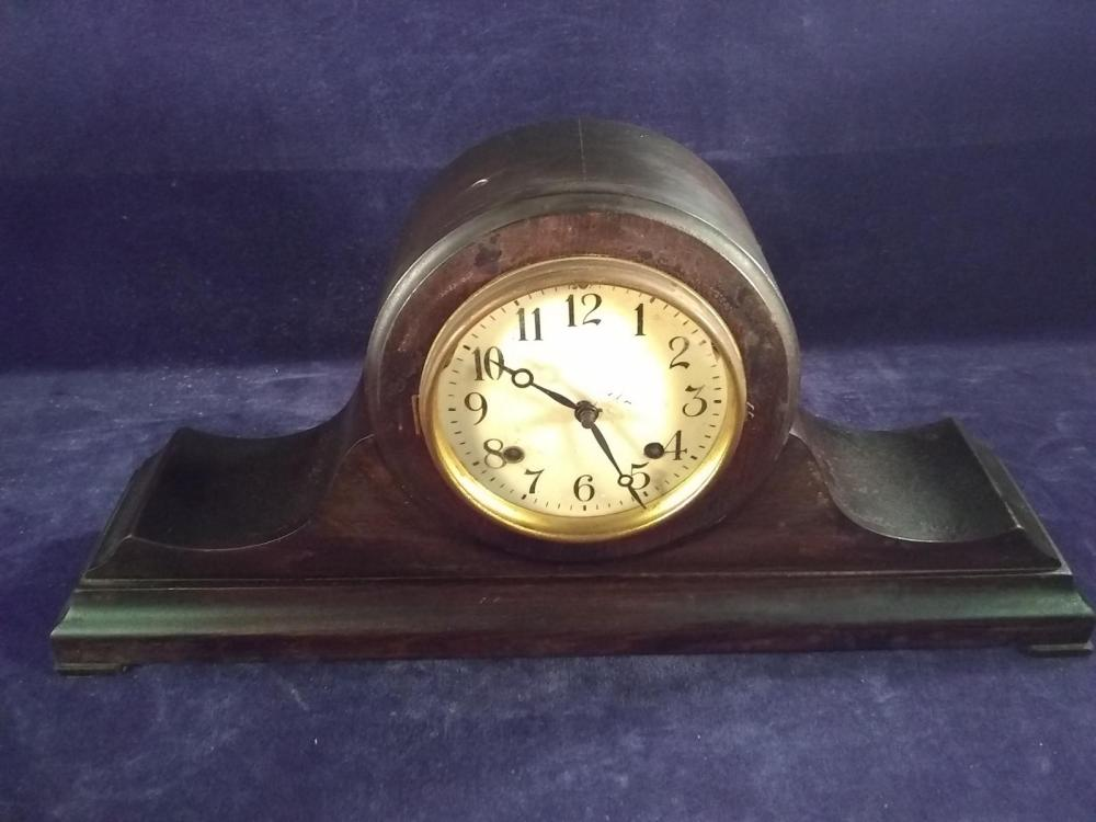 Antique Mahogany Mantle Clock