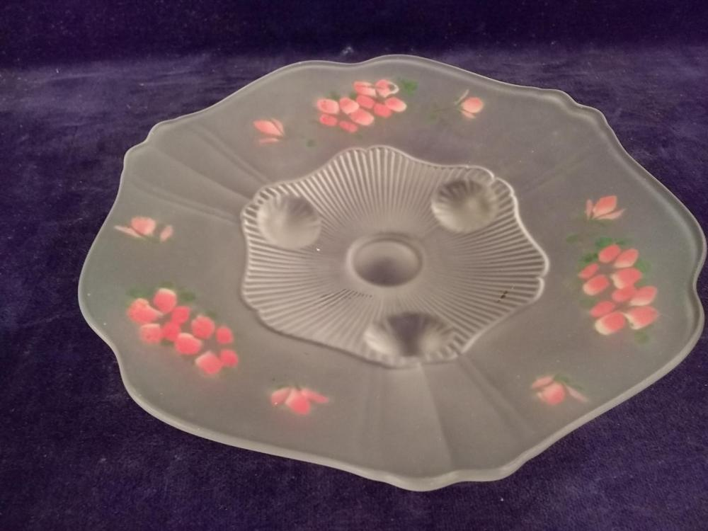 Hand painted Satin Footed Bowl