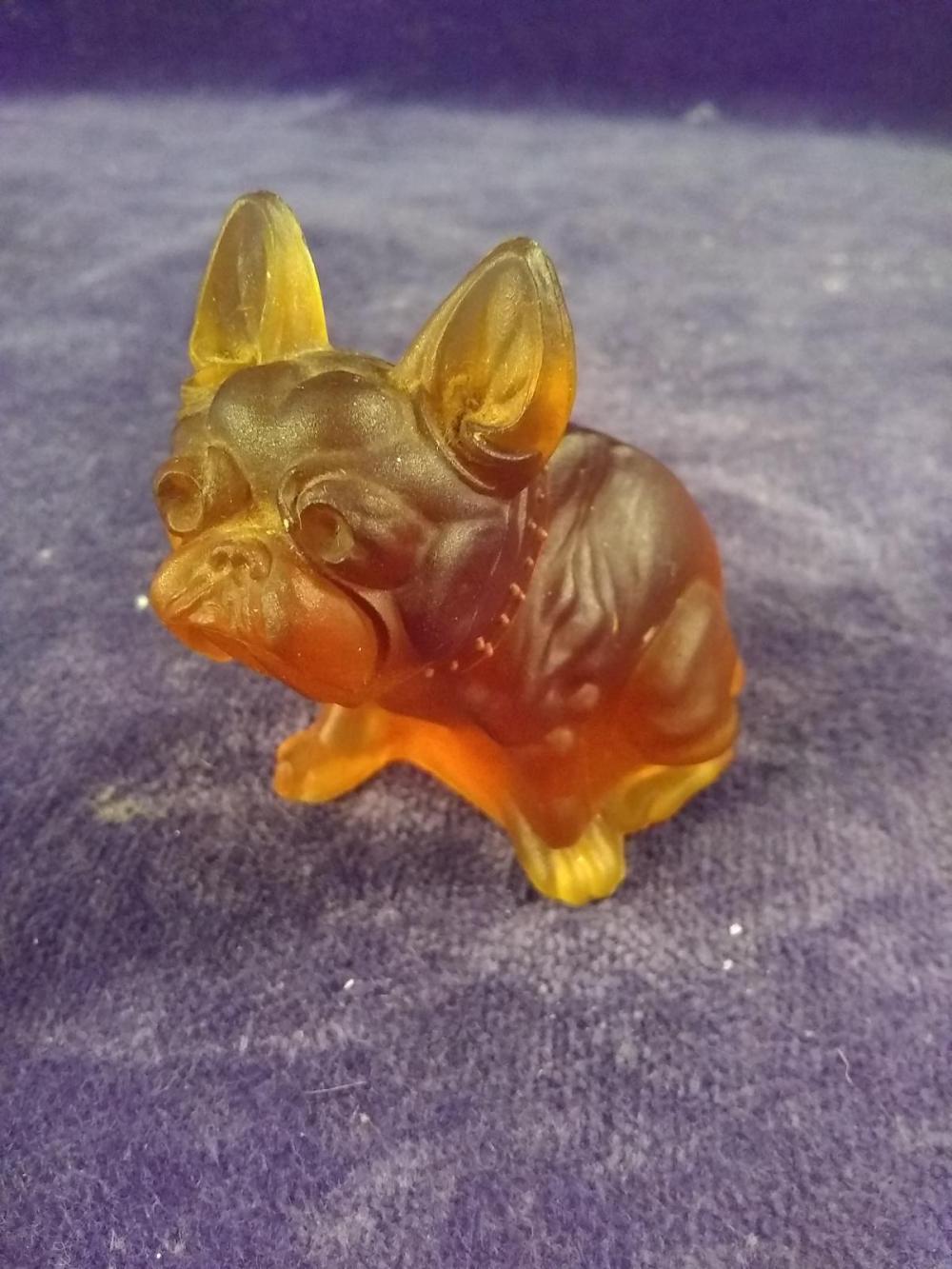 Early Glass Bulldog Figure