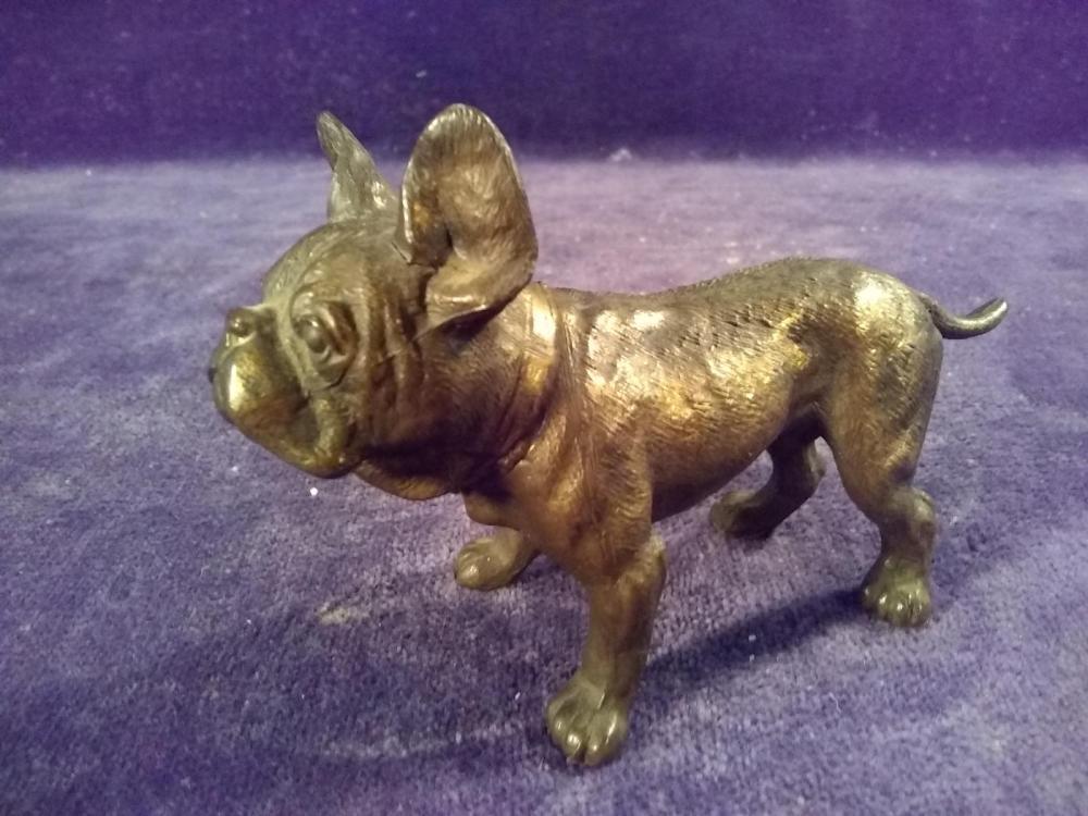 Brass Bulldog Figure