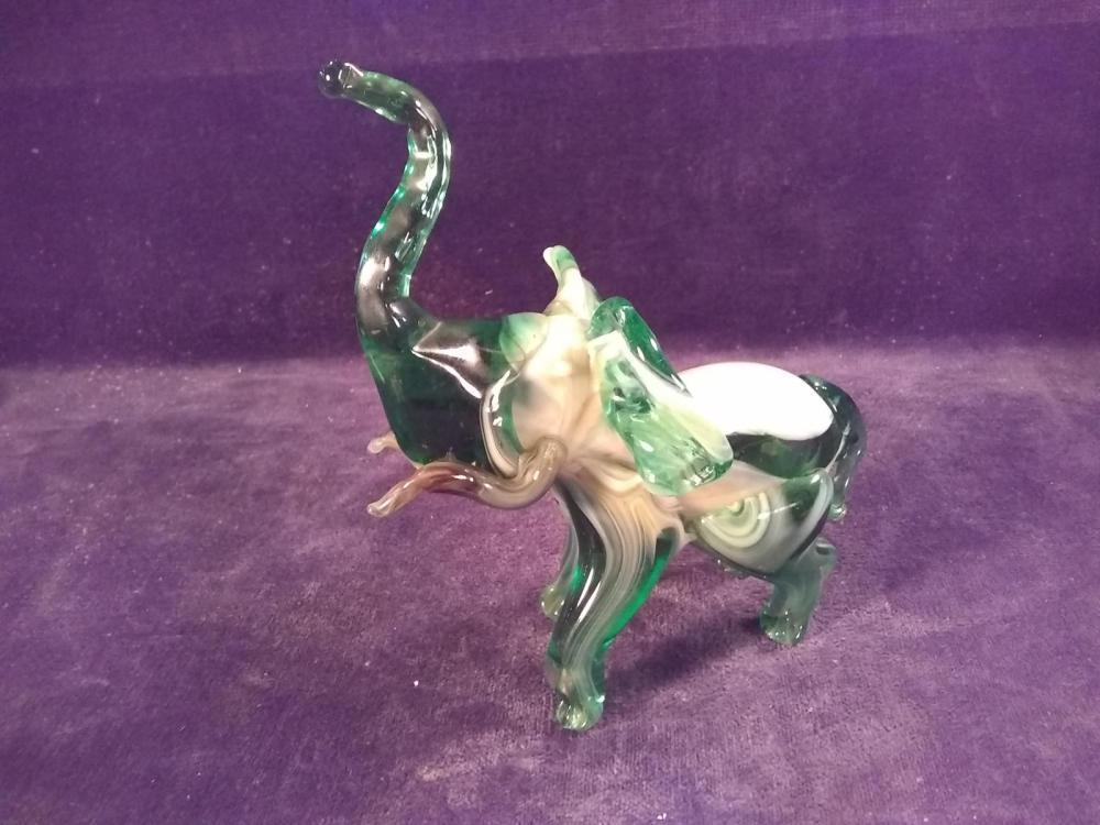 Art Glass Hand Blown Elephant