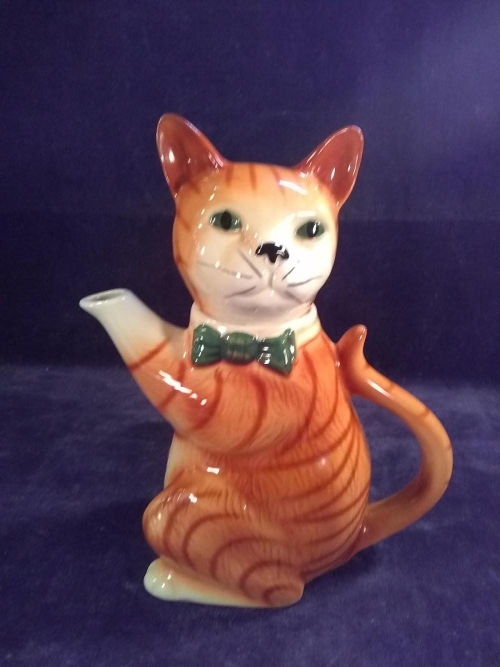 Wood Potter's of Burbles Cat Pitcher