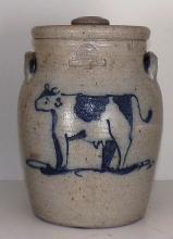 Rowe Pottery Crock - Cow