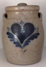 Rowe Pottery Crock - Heart