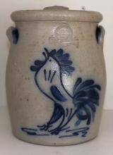 Rowe Pottery Crock - Rooster