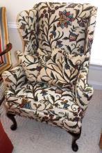 Queen Anne Wing Back Cruel Chair
