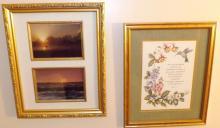 Pair Framed Prints -