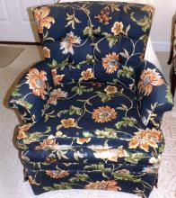 Upholstered Club Chair w/ flower motif