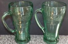 Collection 2 Coke Cola Glass Mugs