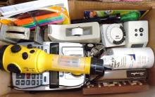 Box Lot - Assorted Electronics, Office Items