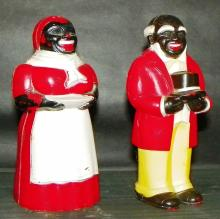 F & F Mold Co. Mammy and Uncle Salt and Pepper Shaker