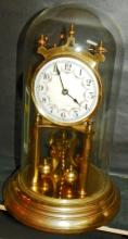 Brass and Glass Dome Anniversary Clock