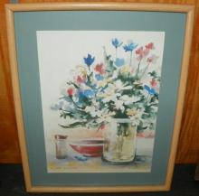 Framed Watercolor -