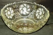 Crystal & Etched Bowl