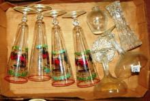 Box Lot - Various Glassware, Buick Model G Glasses