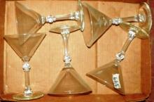 Box Lot - Crystal Stem Cocktail Glasses