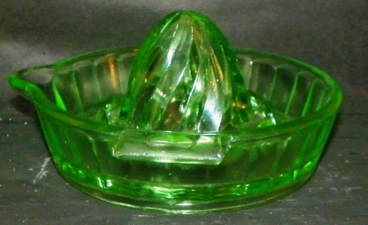 Green Depression Vaseline Juicer