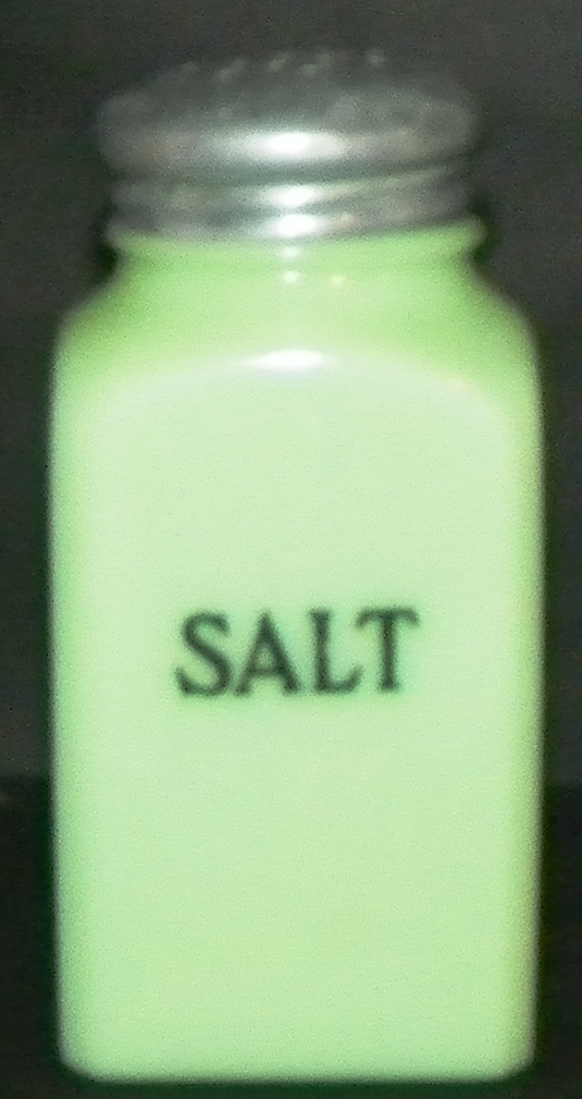 Slag Glass Salt Shaker