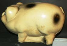 Hand painted Chalk ware Piggy Bank