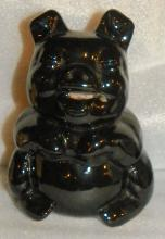 Pottery Piggy Bank - Black
