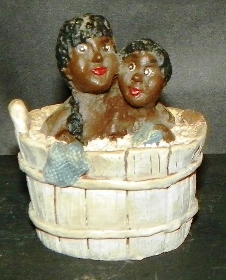 Black Americana - Two Children In Washtub