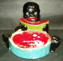 Black Americana - Chalk ware Ashtray