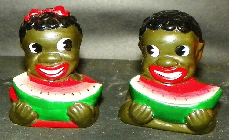 Black Americana - Pair Salt & Pepper Shaker