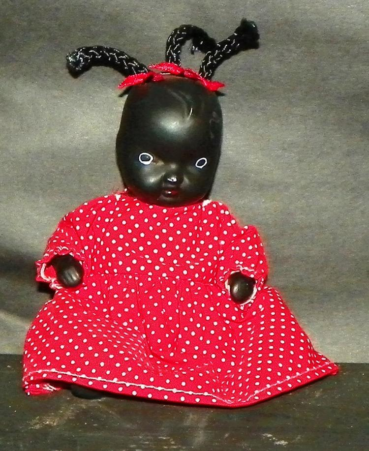 Black Americana - Porcelain Jointed Doll