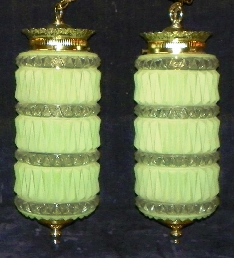 Pair Retro Double Hanging Lamps