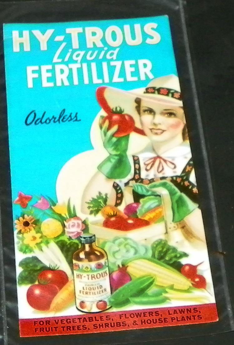 Hy-Trous Liquid Fertilizer Advertisement