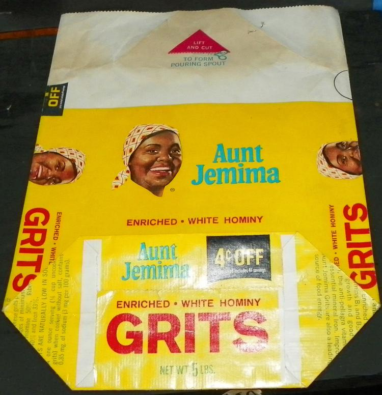 Aunt Jemima Grits Advertising Bag