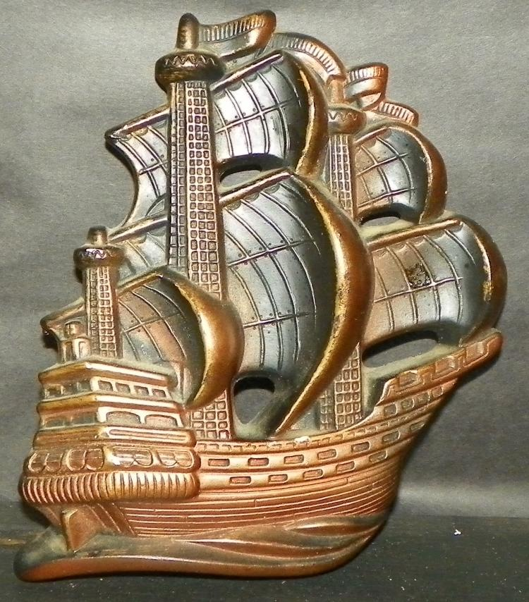 1964 Chalk ware Clipper Ship Wall Plaque