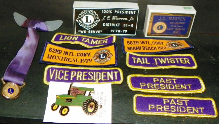 Collection 11 Lion Club Items